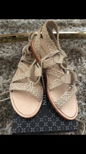 Melvin & hamilton Romeinse sandalen licht beige Leer