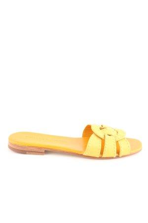 Melvin & hamilton Claquette jaune primevère motif de tache style décontracté