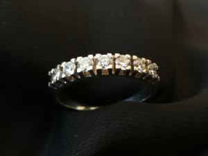 Memory Brillant / Diamant Ring ca. 0,50 ct. TW / LR-VVS / 585 WG
