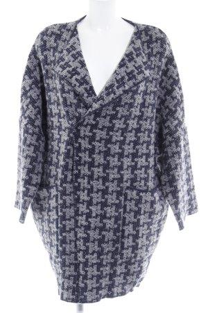 Memory & Co Strick Cardigan dunkelblau-grau abstraktes Muster Boho-Look