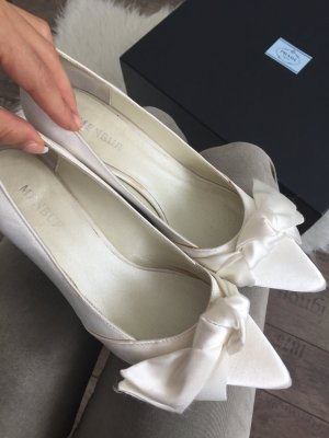 Menbur Brautschuhe Schuhe Satin weiß 37,5 38