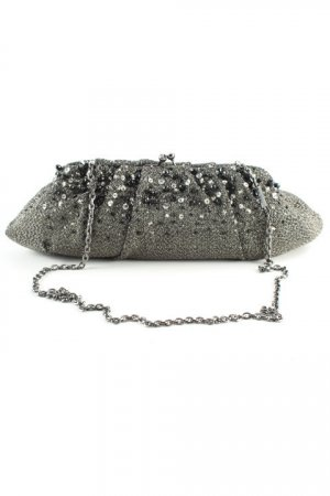 Menbur Borsa telaio nero-argento motivo Galaxy elegante