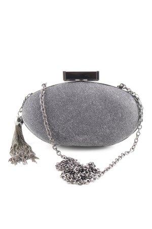 Menbur Mini Bag silver-colored glittery