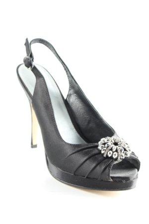 Menbur Peeptoe Pumps schwarz Elegant