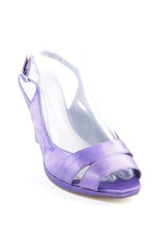 Menbur Escarpin à bride arrière violet foncé élégant