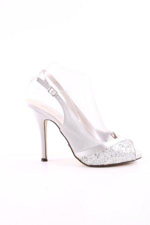 Menbur Slingback pumps zilver elegant
