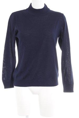 Menke Rollkragenpullover dunkelblau minimalistischer Stil