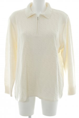 Menke Strickpullover creme Zopfmuster Casual-Look