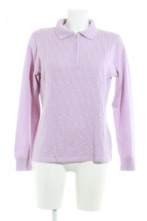 Menke Strickpullover rosa Zopfmuster Casual-Look