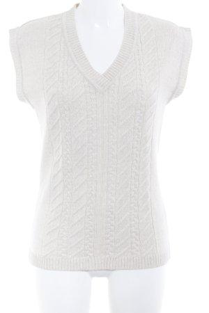 Menke Camisa tejida crema modelo de punto flojo look casual