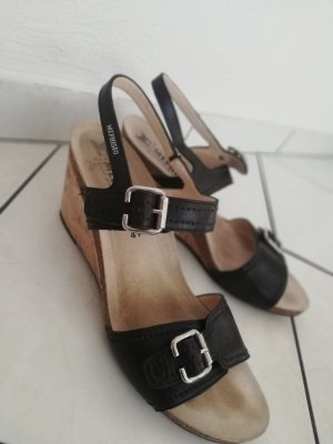 Mephisto Platform High-Heeled Sandal black-silver-colored