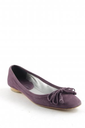 Mer du sud Peep Toe Ballerinas grey violet business style