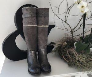 Mer du Sud Vogage Stiefel Vintage echt Leder Lammfell Gr. 38