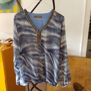 Mer du sud Blusa de túnica azul-blanco Viscosa