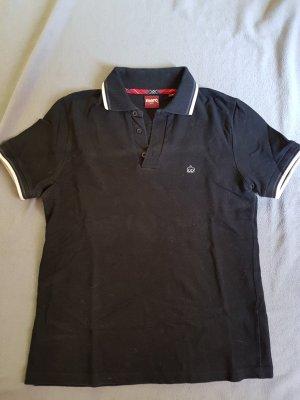 Polo Shirt white-black