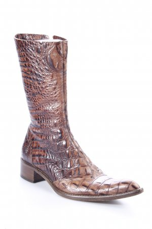 Mercedeh Western Boots black brown animal pattern country style