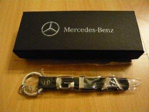 Mercedes Benz Schlüsselanhänger, TYPO GLA, neu, Leder/Edelstahl, OVP