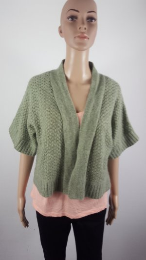 Short Sleeve Knitted Jacket lime-green