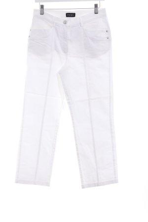 Mergler Pantalon 7/8 blanc style décontracté