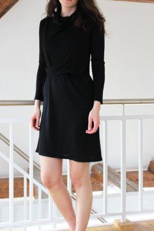 COS Wollen jurk zwart Merinowol