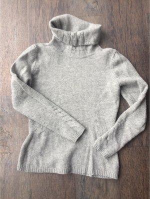 Cassis Turtleneck Sweater light grey merino wool