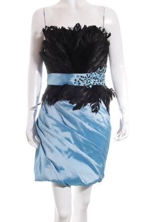Merle Ballkleid hellblau-schwarz extravaganter Stil