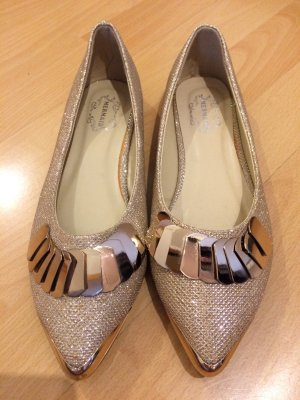 Mermaid Ballerinas in gold; 37; neu!