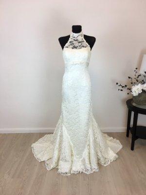 Mermaid Trompete Brautkleid Hochzeitskleid Gr. 34/36 Creme