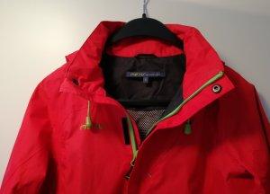 Meru Damen Regenjacke Jacke rot mit Kapuze (Gr. S)