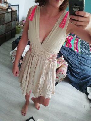 Meryl Street Kleid Nude Neon Tassel Cutouts Minikleid Beach