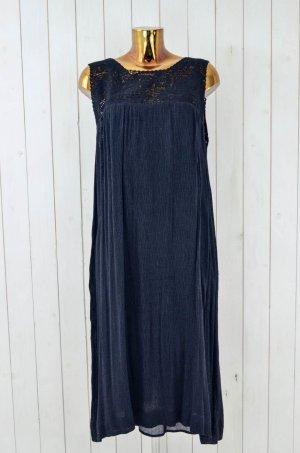 MES DEMOISELLES Kleid Hippiekleid Schwarz Longdress Bestickt Hippie Sommer Gr.40