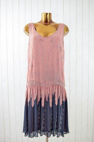 MES DEMOISELLES Kleid Seide 20er Style Charlston Paillette Pailletten Gr.42 Neu!