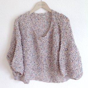 Mes Demoiselles Luxus Sweater Pullover Strickshirt Luftig Oversize Boxy Boho Hippie Urban Blogger