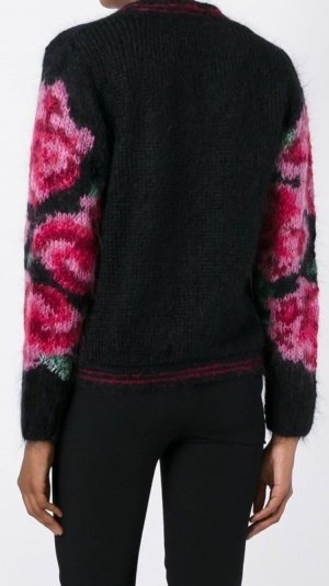 Mes Demoiselles Cardigan in maglia nero Mohair