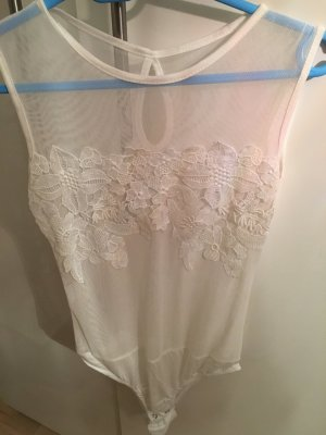Made in Italy Bodysuit Blouse natural white