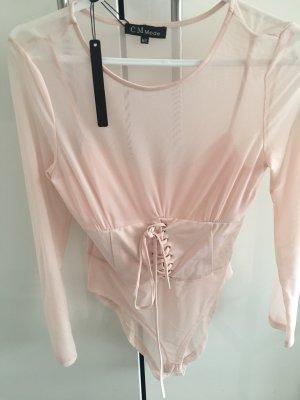 Blusa tipo body rosa Poliéster
