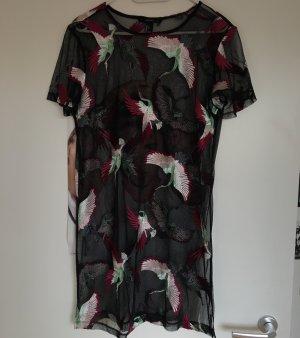 Mesh Kleid mit Stickerei