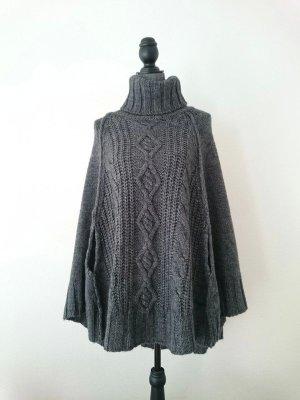 Replay Poncho in maglia grigio scuro