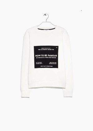 Message cotton sweatshirt