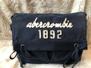 Messenger Bag Abercrombie & Fitch, dunkelblau/weiß, canvas