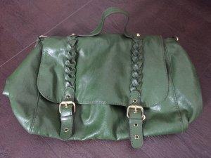 Messenger Bag Umhängetasche dunkelgrün