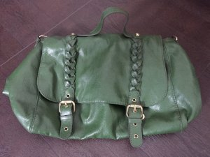 H&M College Bag dark green