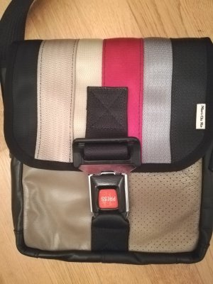 Messengerbag multicolored leather