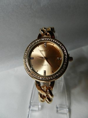 Analog Watch rose-gold-coloured stainless steel