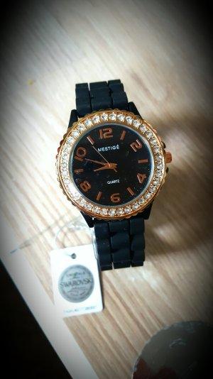 Mestige Quartz Watch mit Swarowski Kristallen