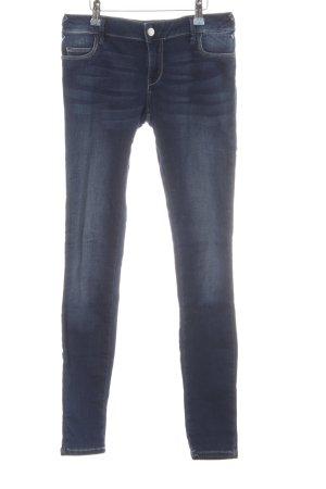 MET 7/8 Jeans blau Washed-Optik