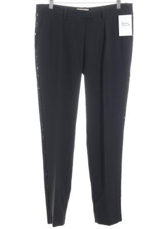 MET Pantalone a pieghe nero stile casual