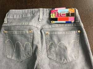 MET Designer Jeans - hellgrau - neuwertig