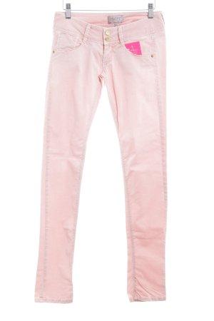 Met in Jeans Hüftjeans rosé Logo-Applikation aus Metall