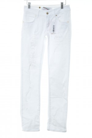 Met in Jeans Skinny Jeans weiß Used-Optik